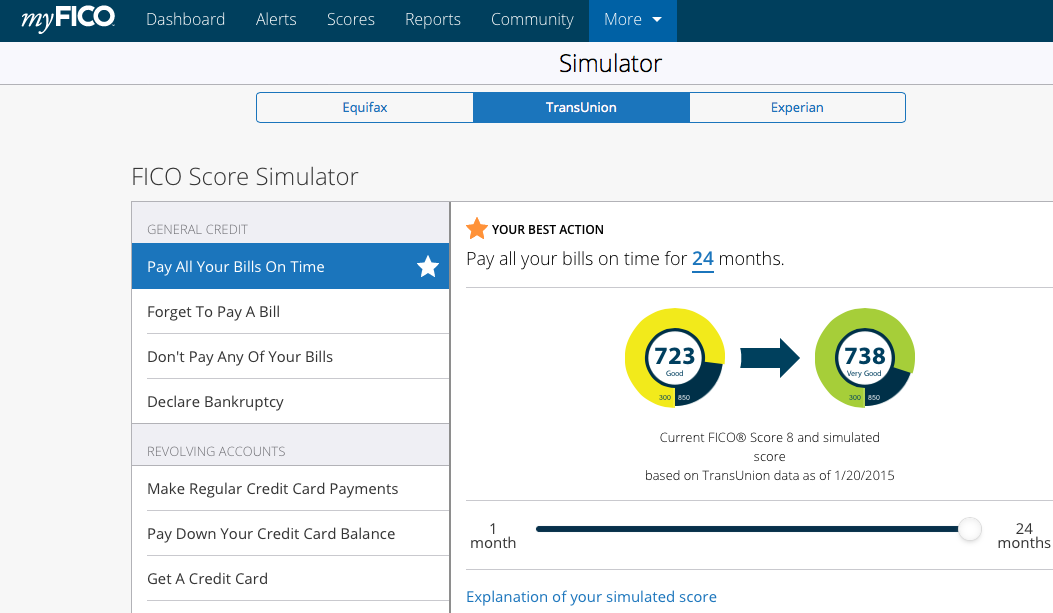 Equifax and TransUnion Scores from Credit Karma